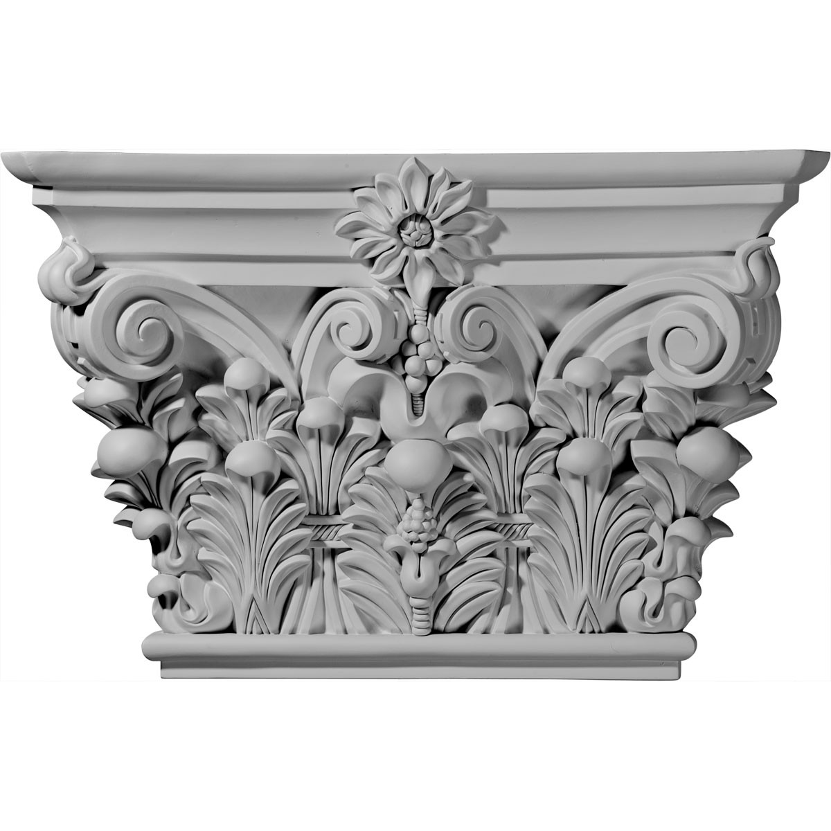 "EM-CAP24X15X06AC - 24 1/8""W x 15 7/8""H x 6 3/4""D Acanthus Leaf Capital (Fits Pilasters up to 15 5/8""W x 1 5/8""D)"