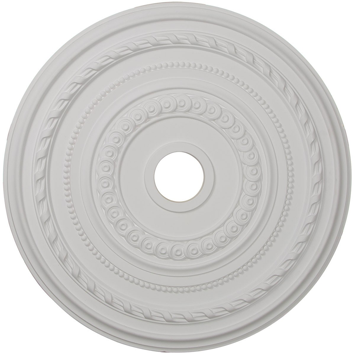 """EM-CM25CO - 25 3/8""""OD x 3 3/8""""ID x 1 3/8""""P Cole Ceiling Medallion (Fits Canopies up to 9 1/8"""")"""