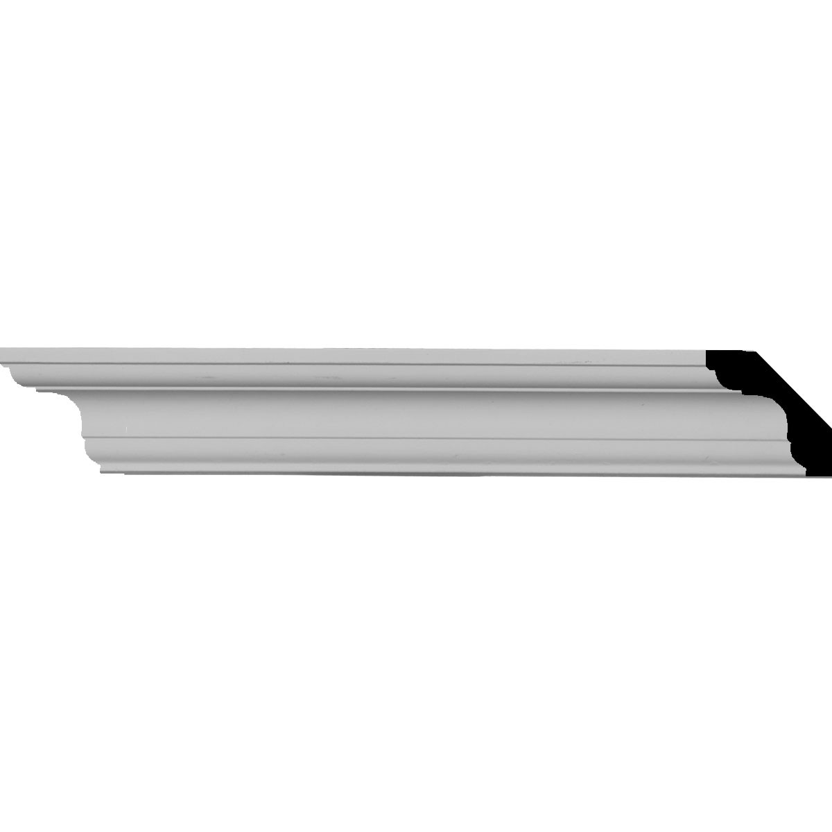"""EM-MLD01X01X02ED - 1 3/4""""H x 1 3/4""""P x 2 1/2""""F x 94 1/2""""L Edinburgh Traditional Smooth Crown Moulding"""