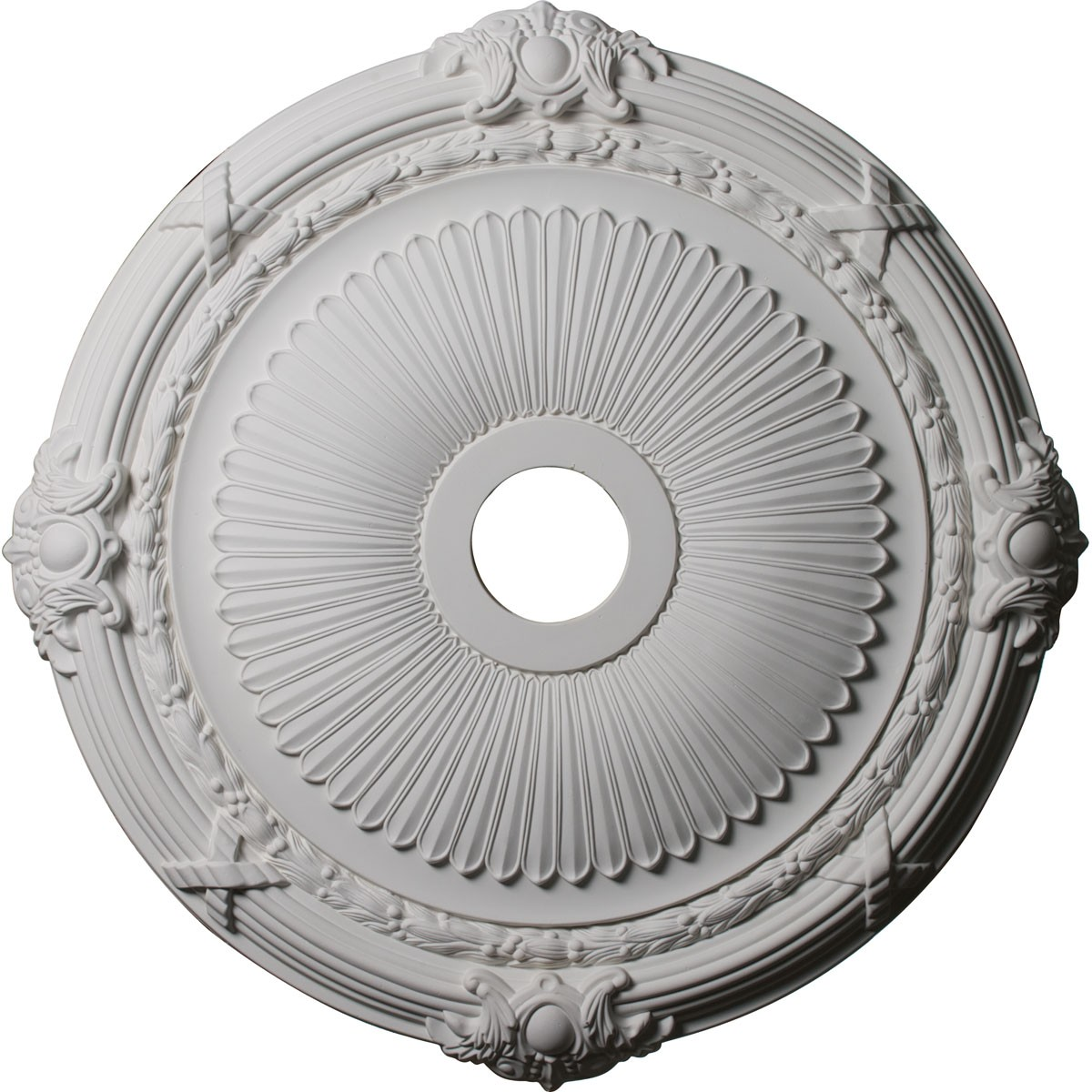 """EM-CM27HE - 27 1/2""""OD x 3 7/8""""ID x 2 1/4""""P Heaton Ceiling Medallion (Fits Canopies up to 6 1/2"""")"""