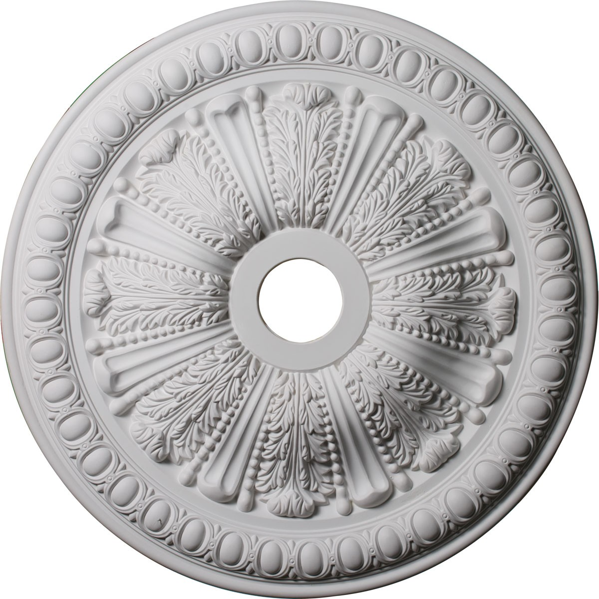 """EM-CM27TO - 27 7/8""""OD x 3 7/8""""ID x 2 1/2""""P Tomango Egg & Dart Ceiling Medallion (Fits Canopies up to 6 3/4"""")"""