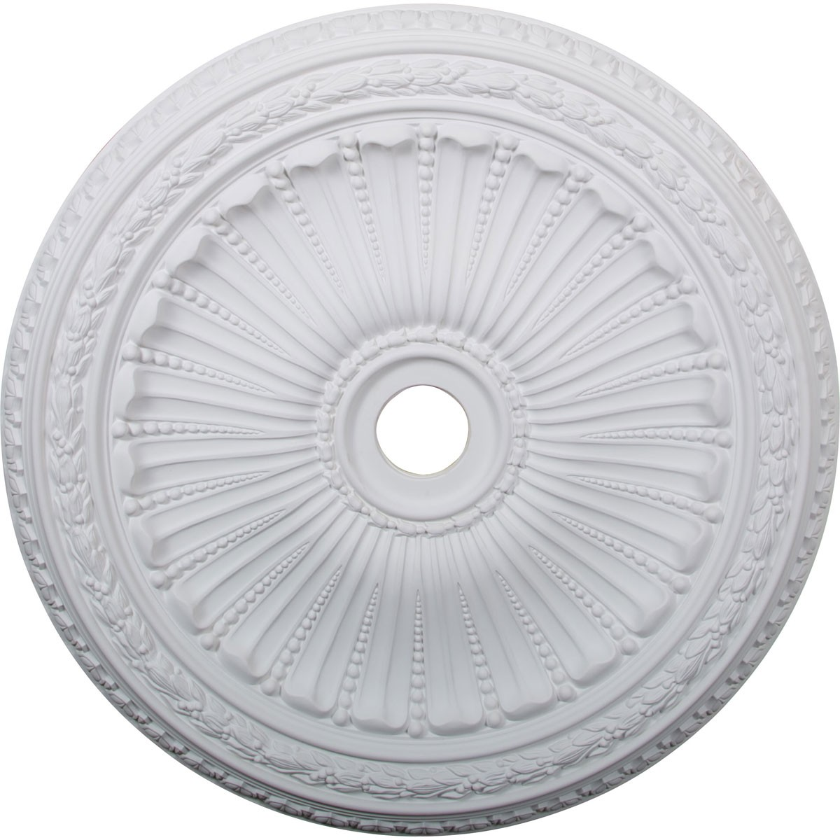 """EM-CM35VI - 35 1/8""""OD x 4 7/8""""ID x 2 1/2""""P Viceroy Ceiling Medallion (Fits Canopies up to 4 7/8"""")"""