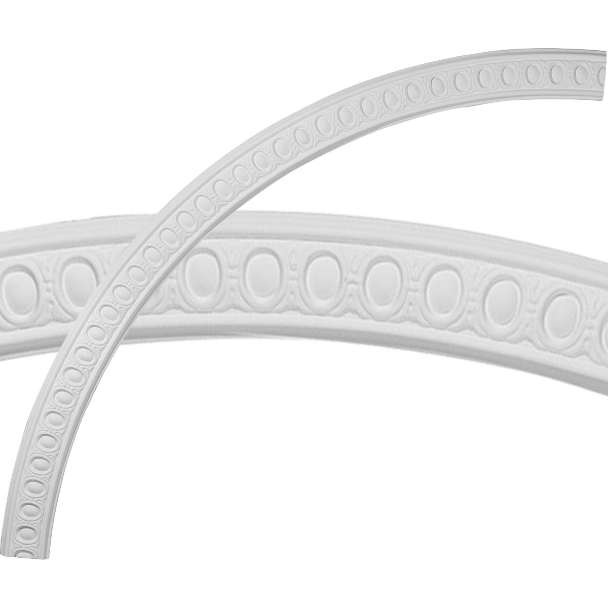 """EM-CR70CA - 70""""OD x 63 1/2""""ID x 3 1/4""""W x 5/8""""P Caputo Egg & Dart Ceiling Ring (1/4 of complete circle)"""