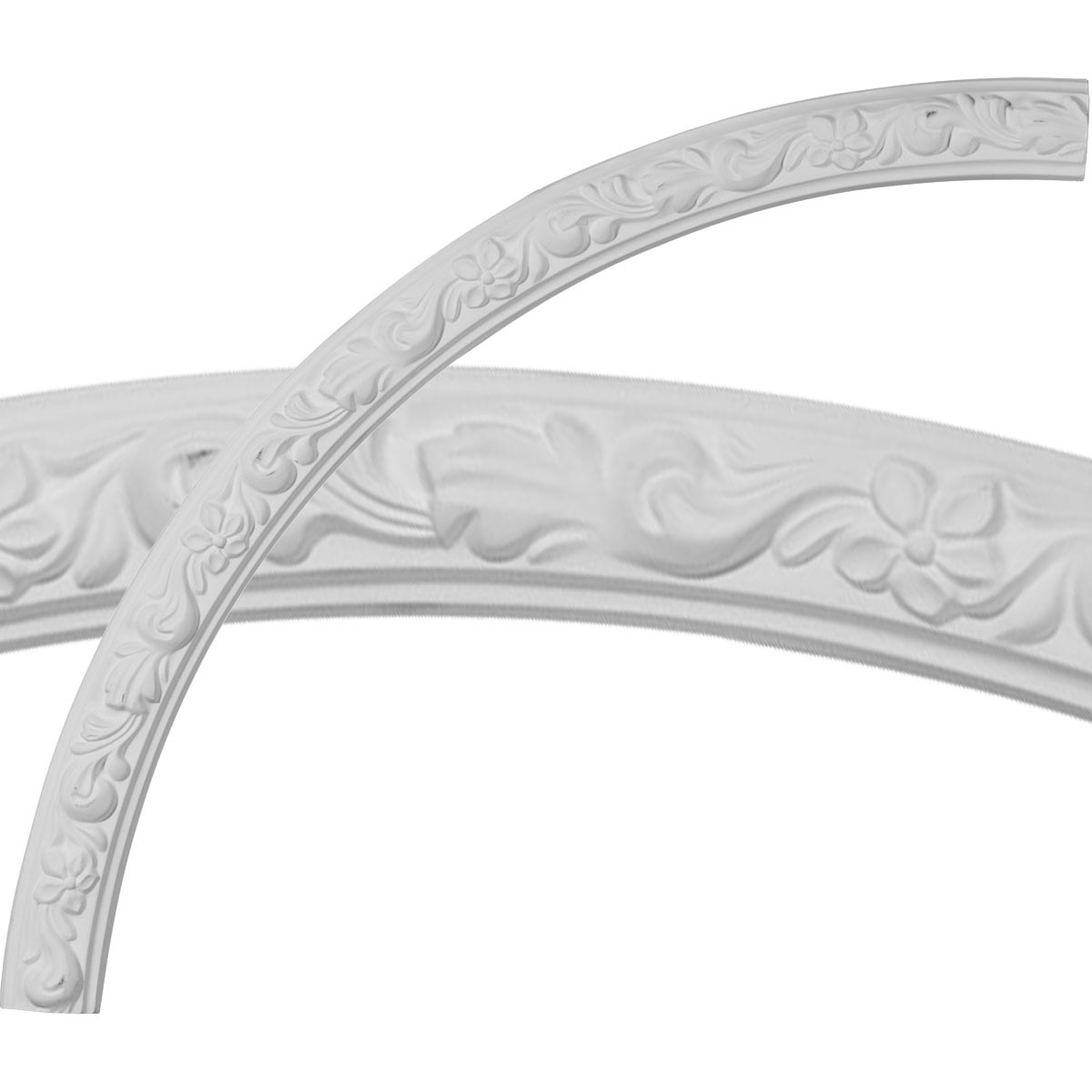 """EM-CR39SU - 40""""OD x 36""""ID x 2""""W x 7/8""""P Sussex Floral Ceiling Ring (1/4 of complete circle)"""