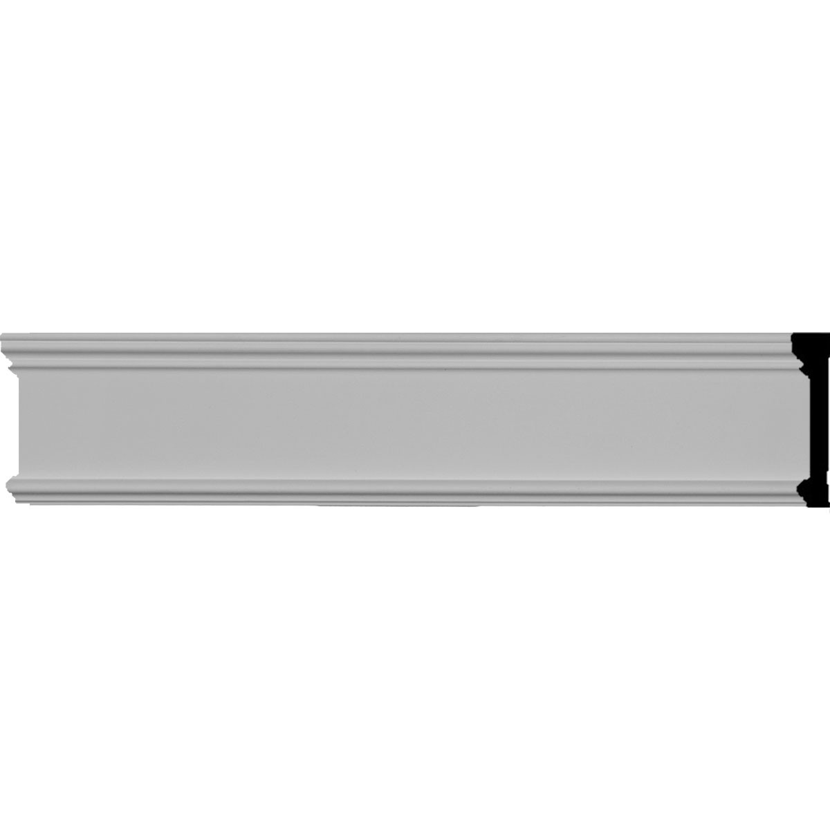 """EM-PIR03X00BP - 3 1/8""""H x 5/8""""P x 96""""L Pierced Moulding Backplate, fits Pierced Moulding Heights 2"""" and under"""