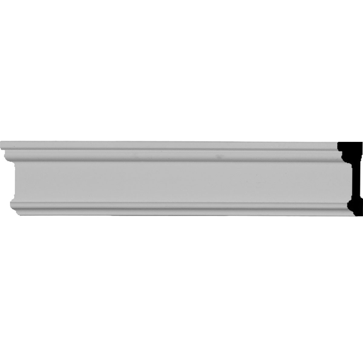 """EM-PIR01X00BP - 1 3/4""""H x 1/2""""P x 96""""L Pierced Moulding Backplate, fits Pierced Moulding Heights 1"""" and under"""