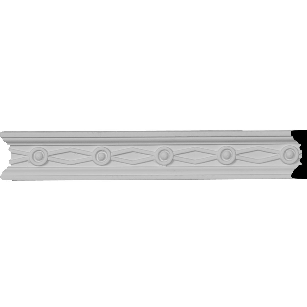 "EM-CHA01X00FE - 1 1/2""H x 1/2""P x 96""L, (2"" Repeat), Federal Chair Rail"
