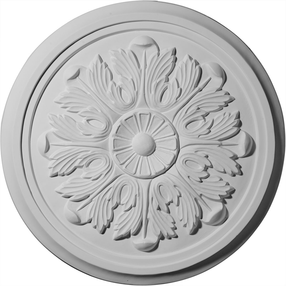 """EM-CM17LE - 17 7/8""""OD x 1 1/8""""P Large Legacy Acanthus Ceiling Medallion (Fits Canopies up to 4 1/4"""")"""