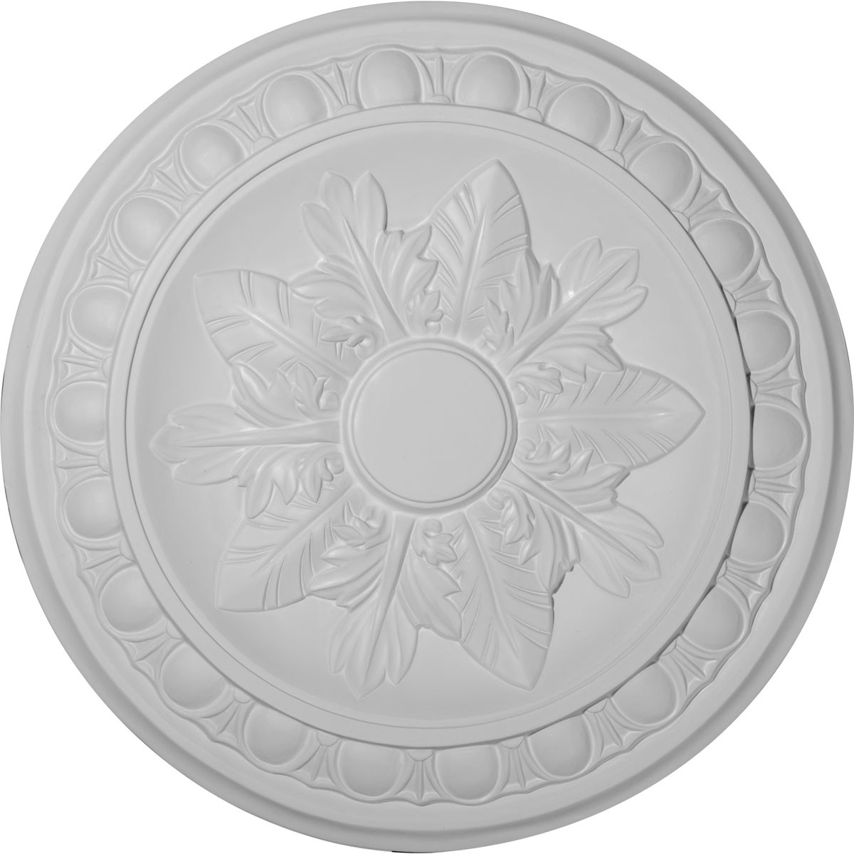 "EM-CM17EX - 17 3/4""OD x 1 1/8""P Exeter Ceiling Medallion (Fits Canopies up to 3 1/8"")"