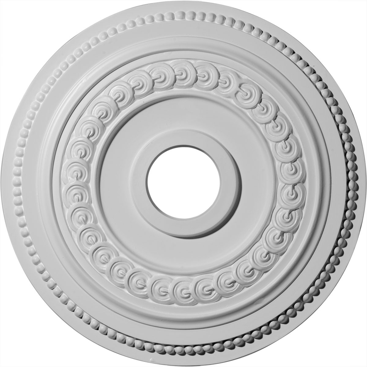 "EM-CM18OL1 - 18""OD x 3 3/8""ID x 7/8""P Oldham Ceiling Medallion (Fits Canopies up to 8 5/8"")"