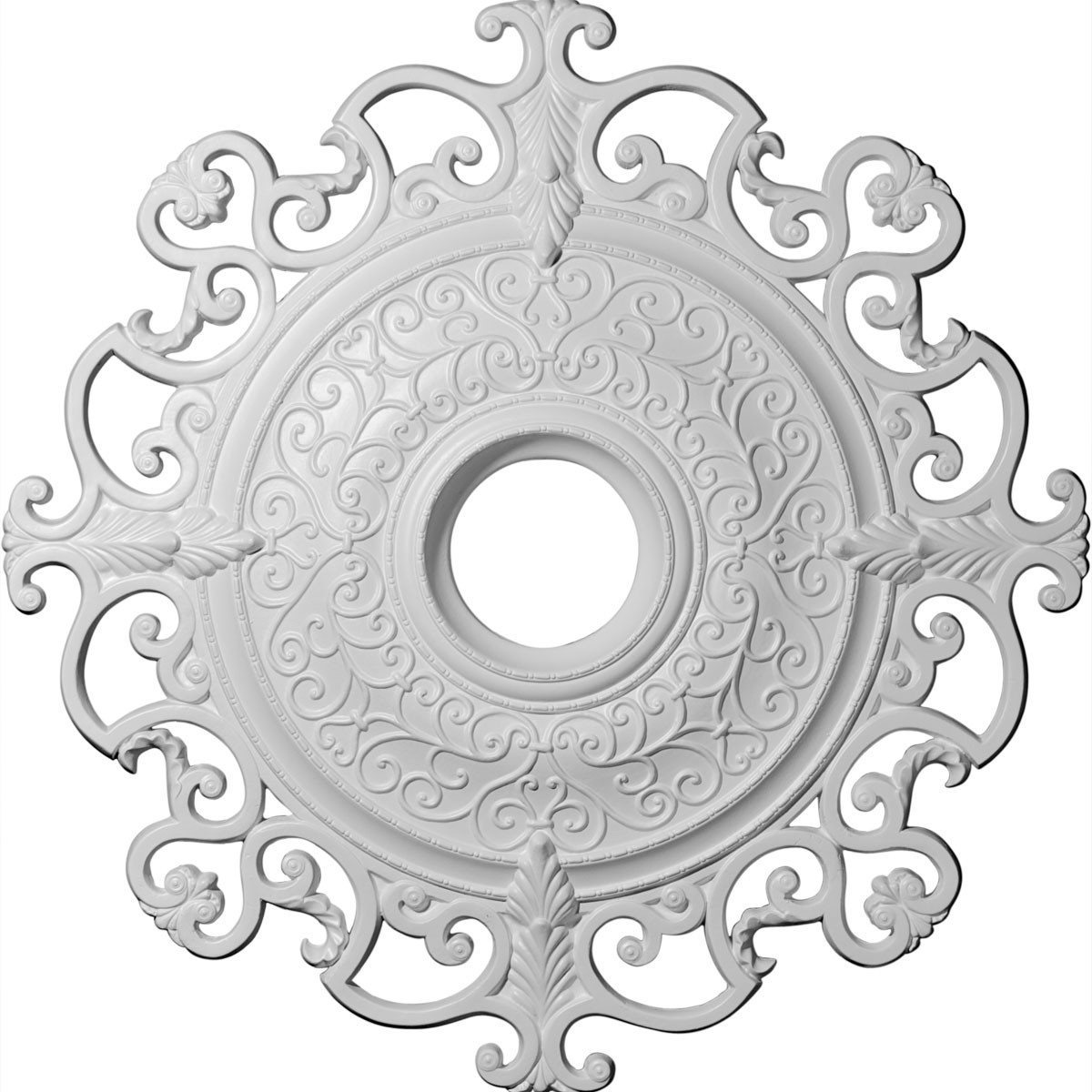 """EM-CM38OL - 38 3/8""""OD x 6 5/8""""ID x 2 7/8""""P Orleans Ceiling Medallion (Fits Canopies up to 8 1/4"""")"""
