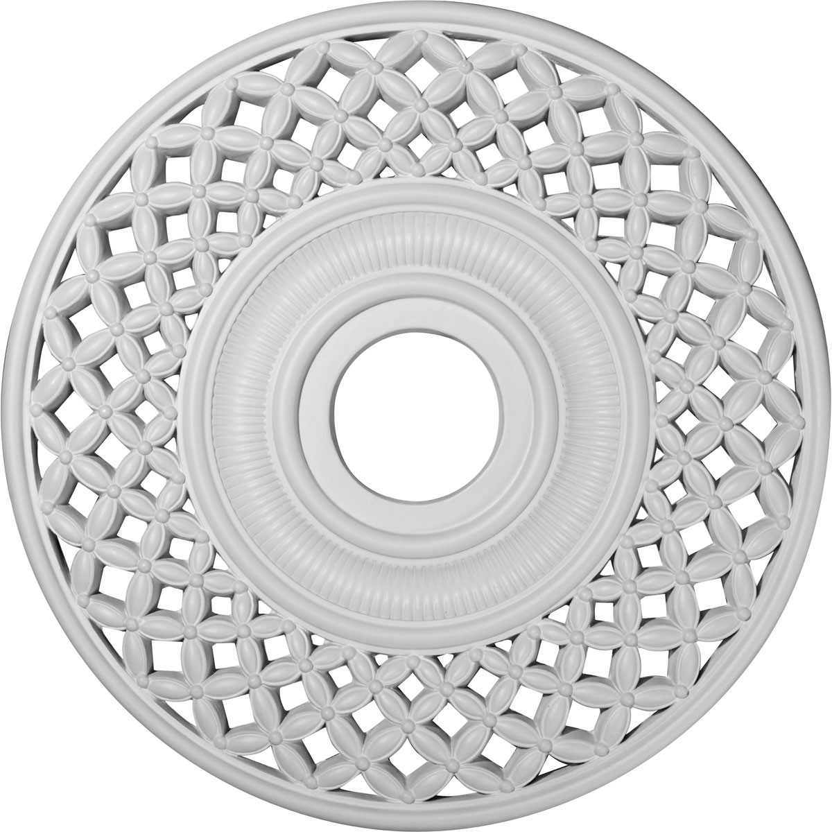 """EM-CM22RB - 22 1/4""""OD x 4 3/4""""ID x 1 1/4""""P Robin Ceiling Medallion (Fits Canopies up to 6 1/4"""")"""