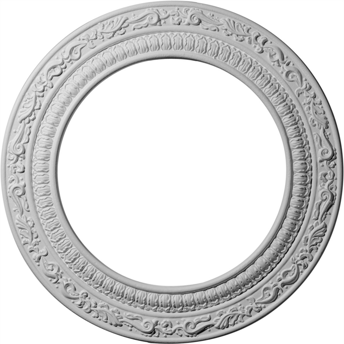 """EM-CM12AD - 12""""OD x 8""""ID x 1/2""""P Andrea Ceiling Medallion (Fits Canopies up to 8"""")"""