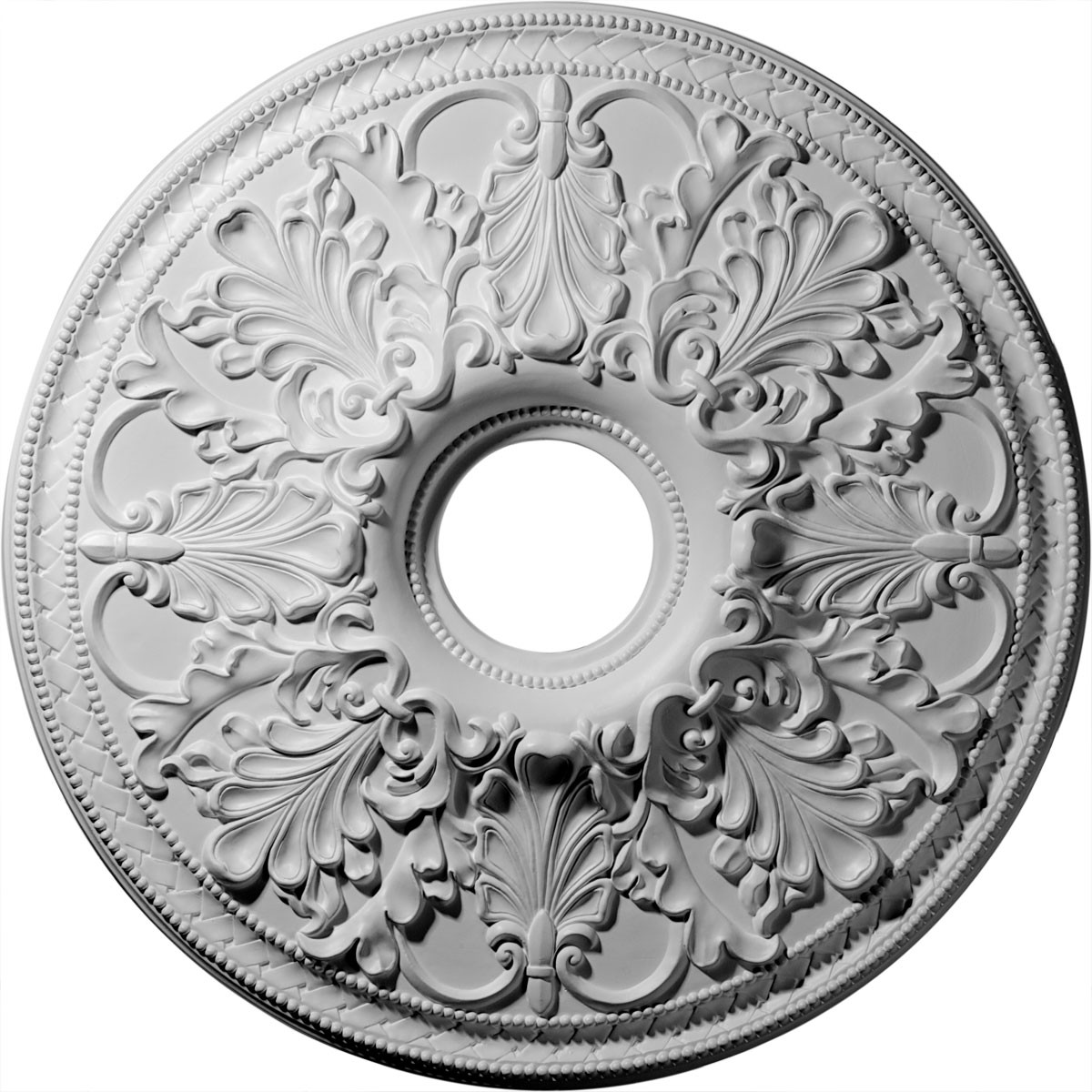 """EM-CM23AS - 23 7/8""""OD x 4""""ID x 2 1/8""""P Ashley Ceiling Medallion (Fits Canopies up to 4 3/4"""")"""