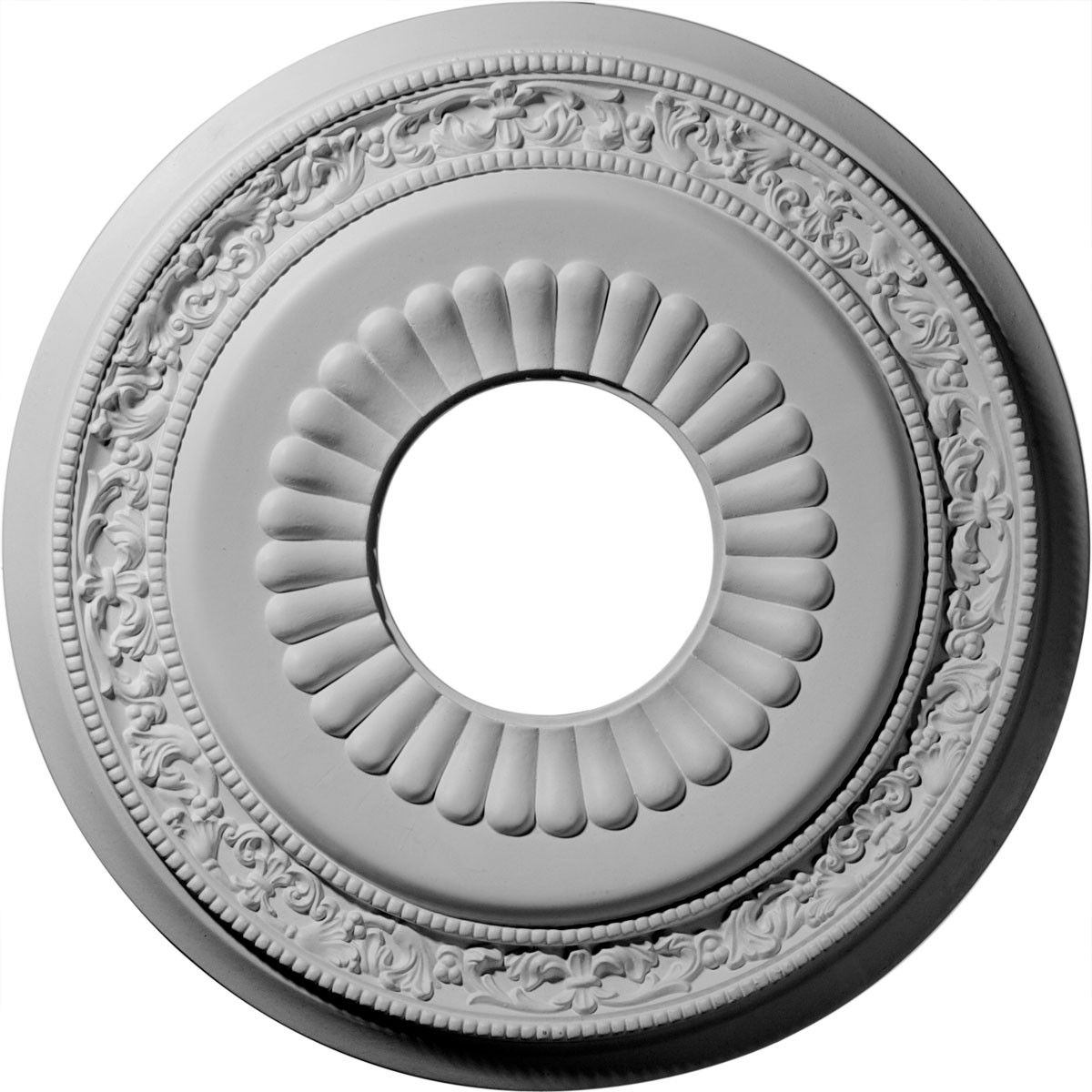 "EM-CM20LN - 20 5/8""OD x 6 1/4""ID x 1 3/8""P Lauren Ceiling Medallion (Fits Canopies up to 6 1/4"")"