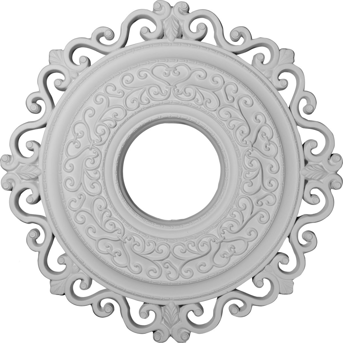 """EM-CM22OR - 22""""OD x 6 1/4""""ID x 1 3/4""""P Orrington Ceiling Medallion (Fits Canopies up to 6 1/4"""")"""