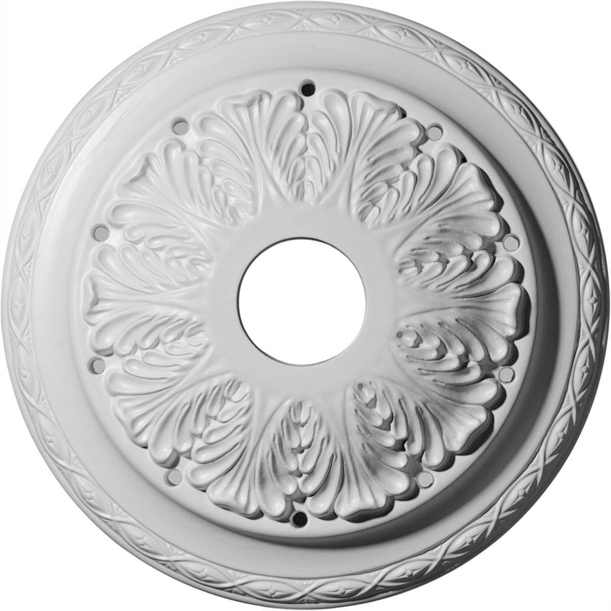 "EM-CM13AS - 13 3/4""OD x 2 3/4""ID x 3""P Asa Ceiling Medallion (Fits Canopies up to 4 1/2"")"