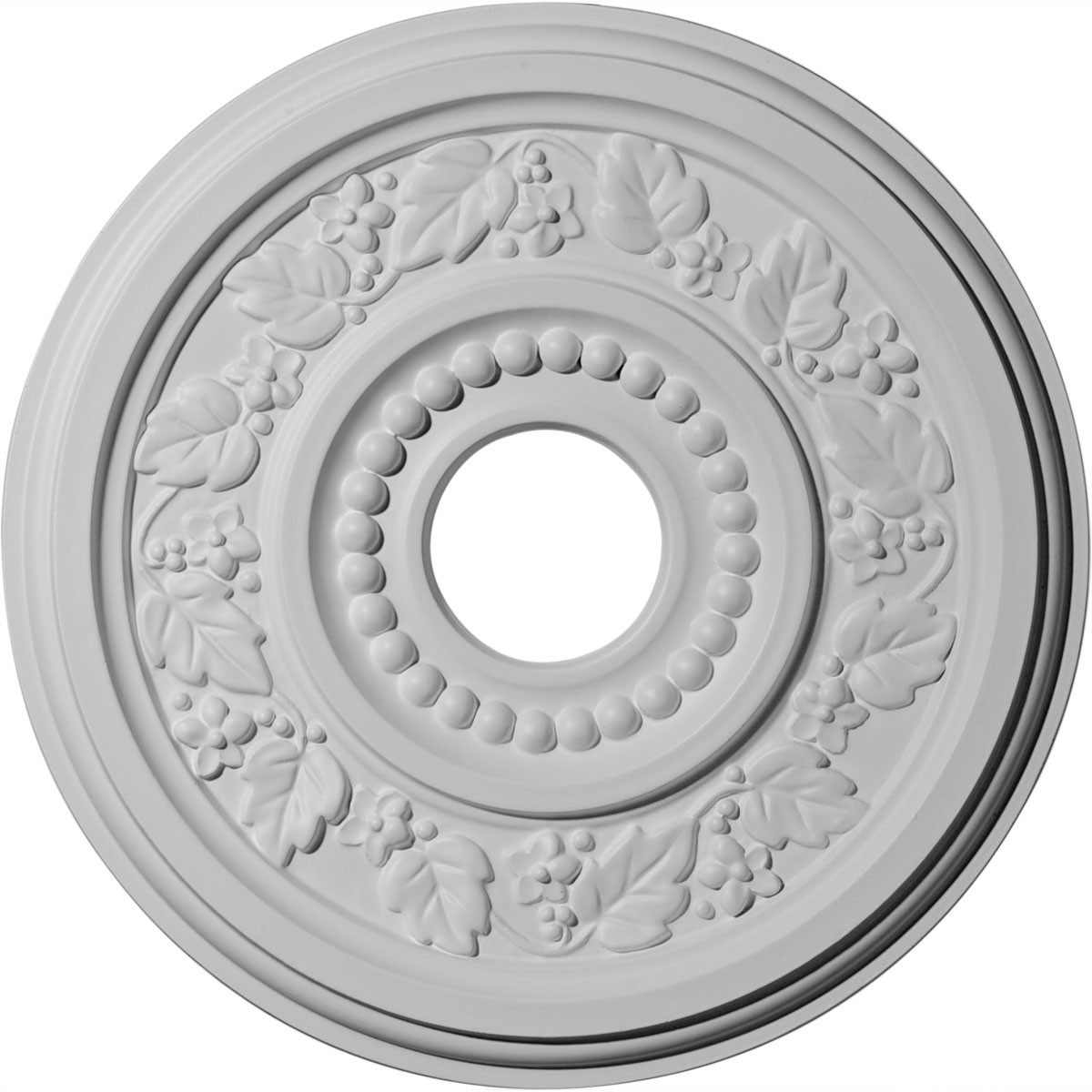 """EM-CM16GN - 16 1/8""""OD x 3 1/2""""ID x 7/8""""P Genevieve Ceiling Medallion (Fits Canopies up to 3 1/2"""")"""
