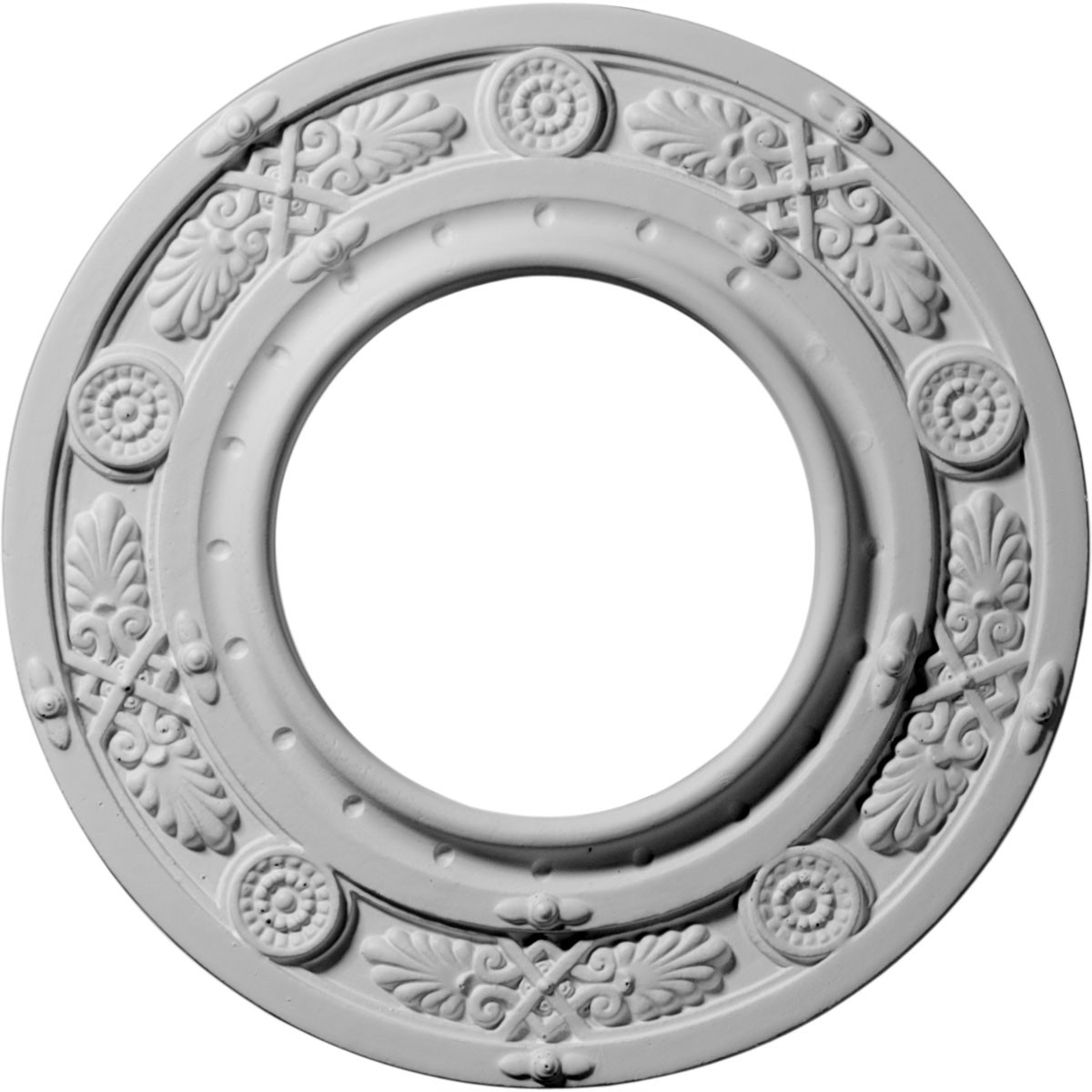 "EM-CM08DN - 8""OD x 3 7/8""ID x 1/2""P Daniela Ceiling Medallion (Fits Canopies up to 3 7/8"")"