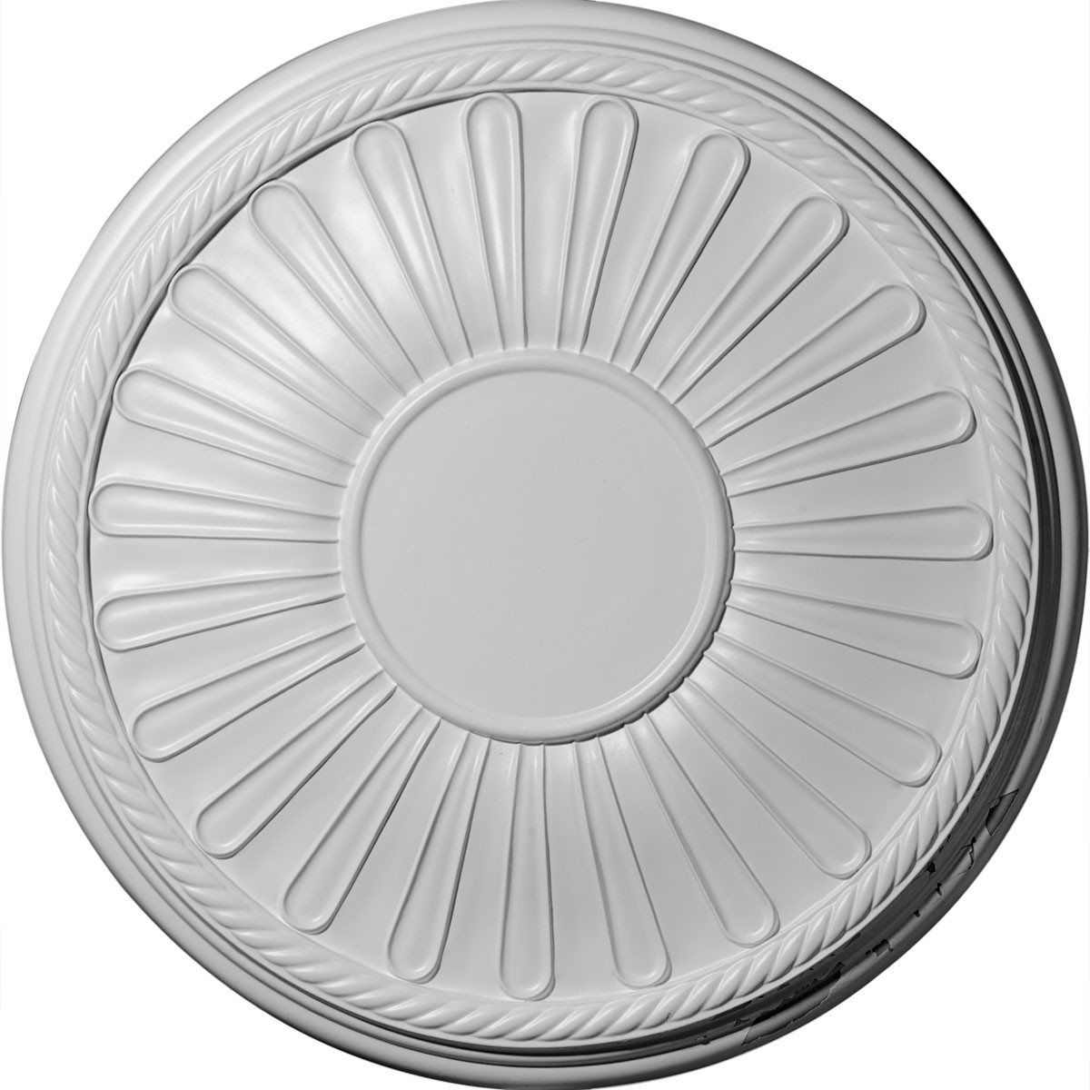 """EM-CM22LN - 19 7/8""""OD x 1 1/4""""P Leandros Ceiling Medallion (Fits Canopies up to 6 3/8"""")"""