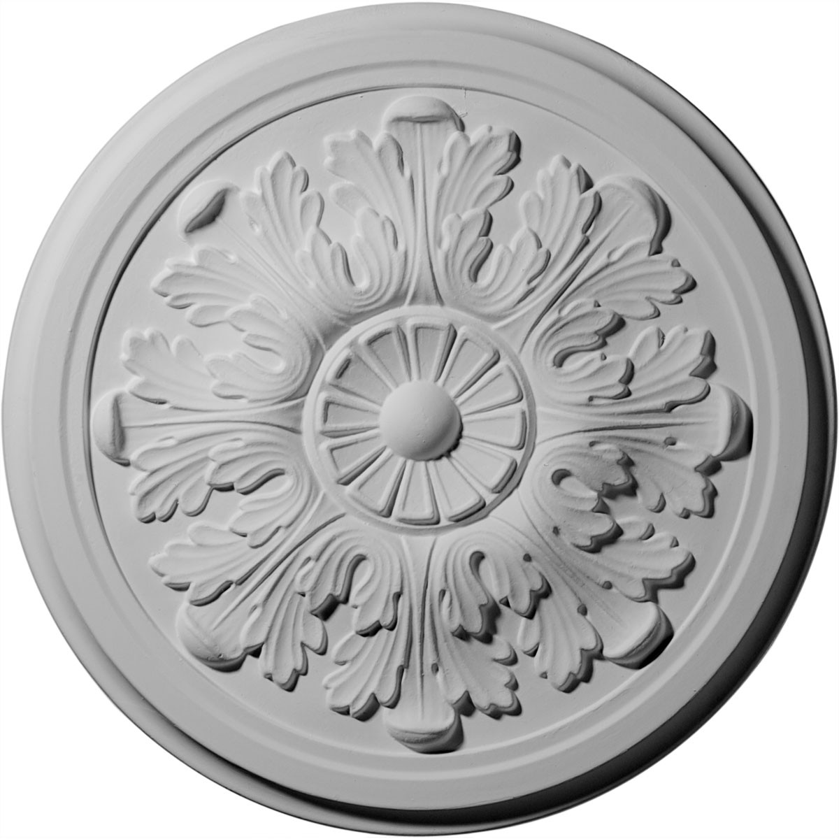 """EM-CM12LE - 12 3/4""""OD x 7/8""""P Legacy Acanthus Ceiling Medallion (Fits Canopies up to 3 1/2"""")"""