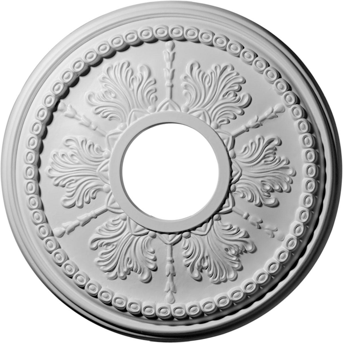 "EM-CM13TI - 13 7/8""OD x 3 3/4""ID x 1 1/4""P Tirana Ceiling Medallion (Fits Canopies up to 4 3/4"")"