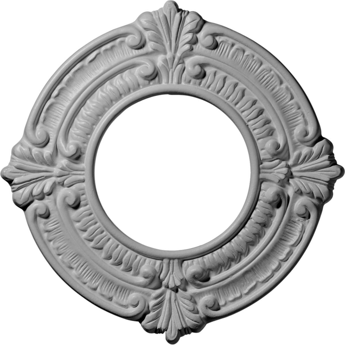 """EM-CM09BN - 9""""OD x 4 1/8""""ID x 5/8""""P Benson Ceiling Medallion (Fits Canopies up to 4 1/8"""")"""