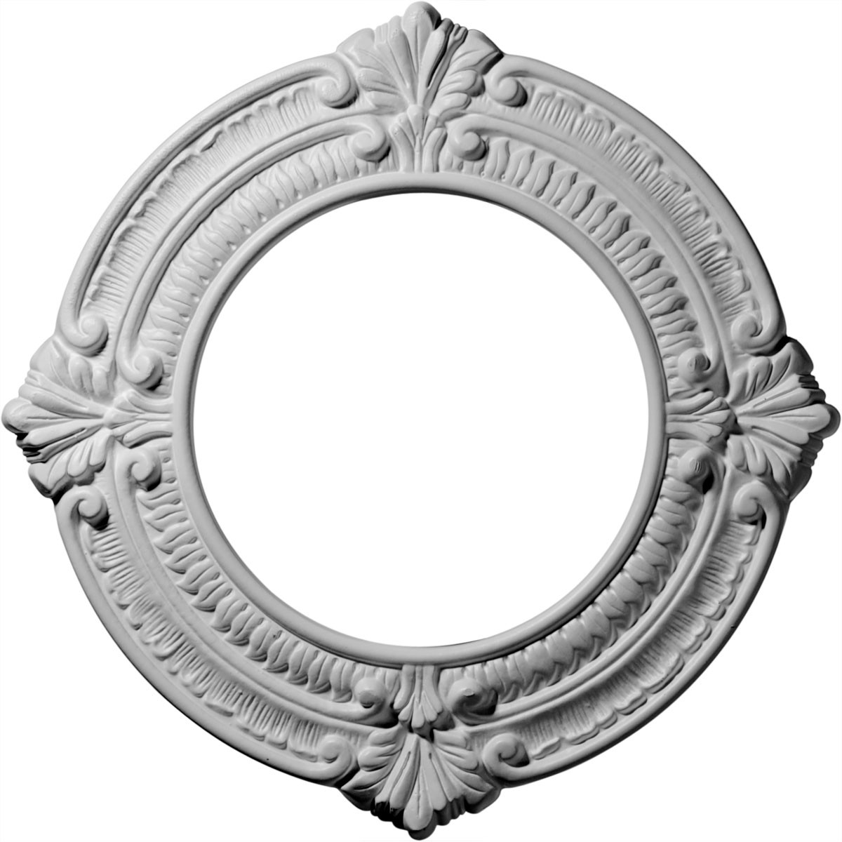 """EM-CM11BN - 11 1/8""""OD x 6 1/8""""ID x 5/8""""P Benson Ceiling Medallion (Fits Canopies up to 6 1/8"""")"""