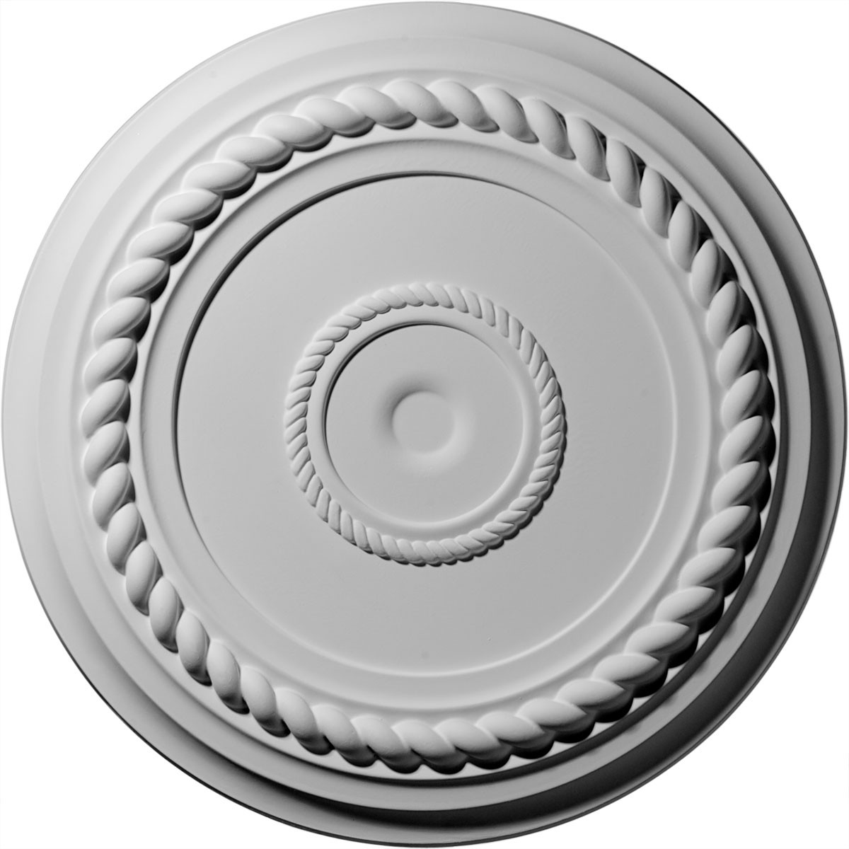 """EM-CM18AL - 19 5/8""""OD x 1 1/2""""P Alexandria Rope Ceiling Medallion (Fits Canopies up to 4 5/8"""")"""