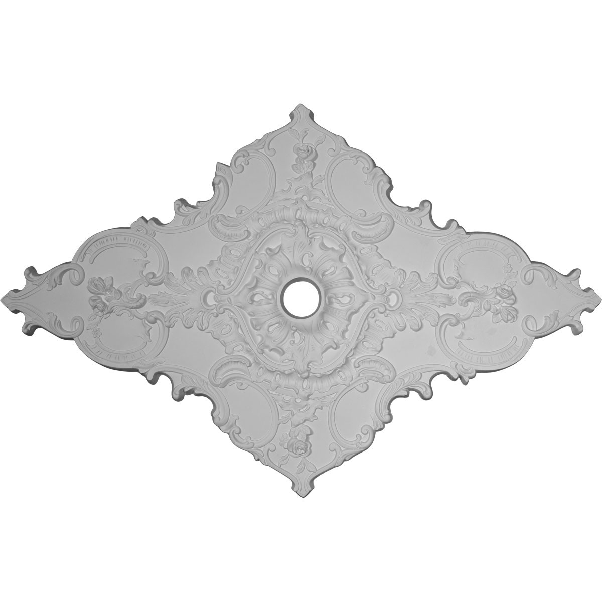 """EM-CM70X43ML - 67 1/4""""W x 43 3/8""""H x 4""""ID x 2""""P Melchor Diamond Ceiling Medallion (Fits Canopies up to 4"""")"""