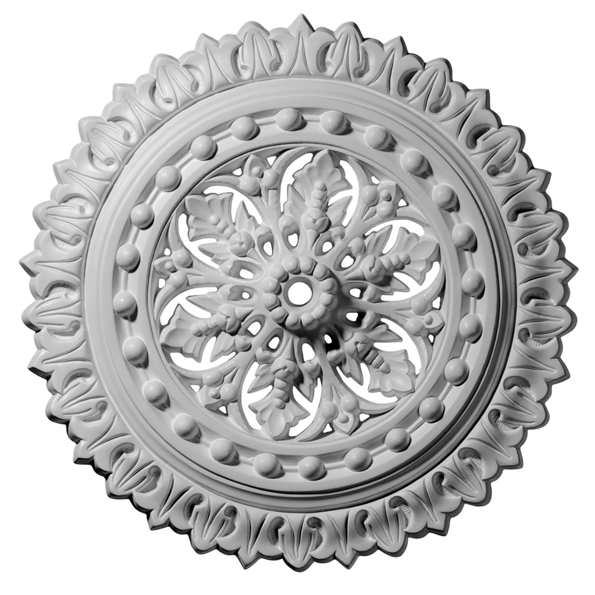 "EM-CM18SK - 18 1/2""OD x 7/8""ID x 1 1/2""P Sellek Ceiling Medallion (Fits Canopies up to 1 1/8"")"