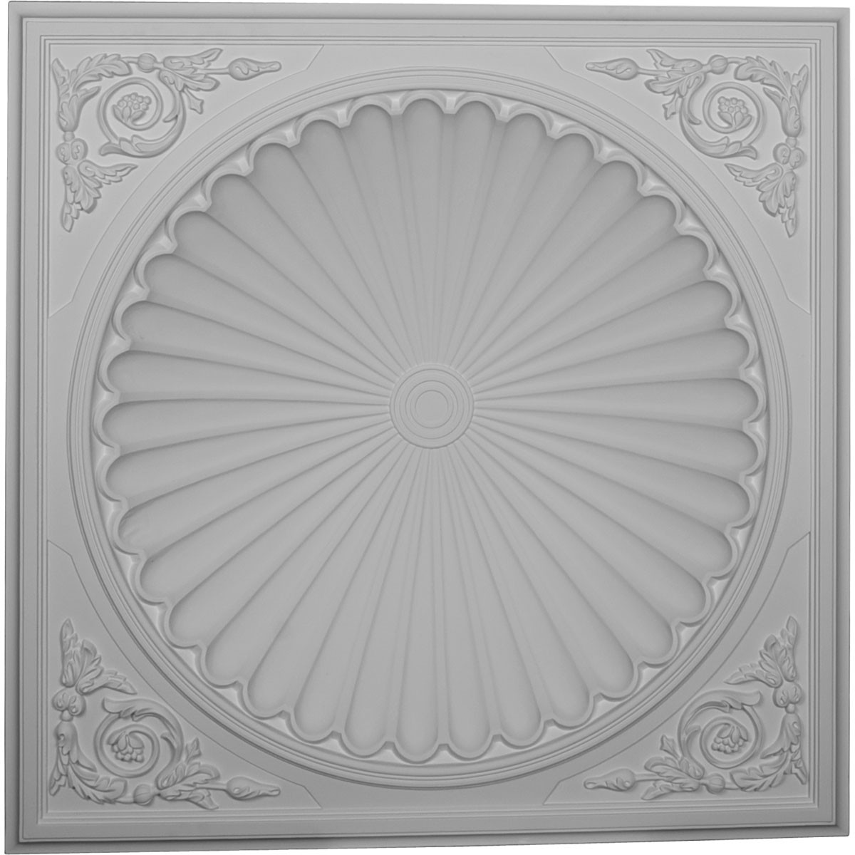 "EM-DOME38OD - 38 1/2""OD x 30 3/4""ID x 6 1/2""D Odessa Recessed Mount Ceiling Dome (32 1/2""Diameter x 7 7/8""D Rough Opening)"