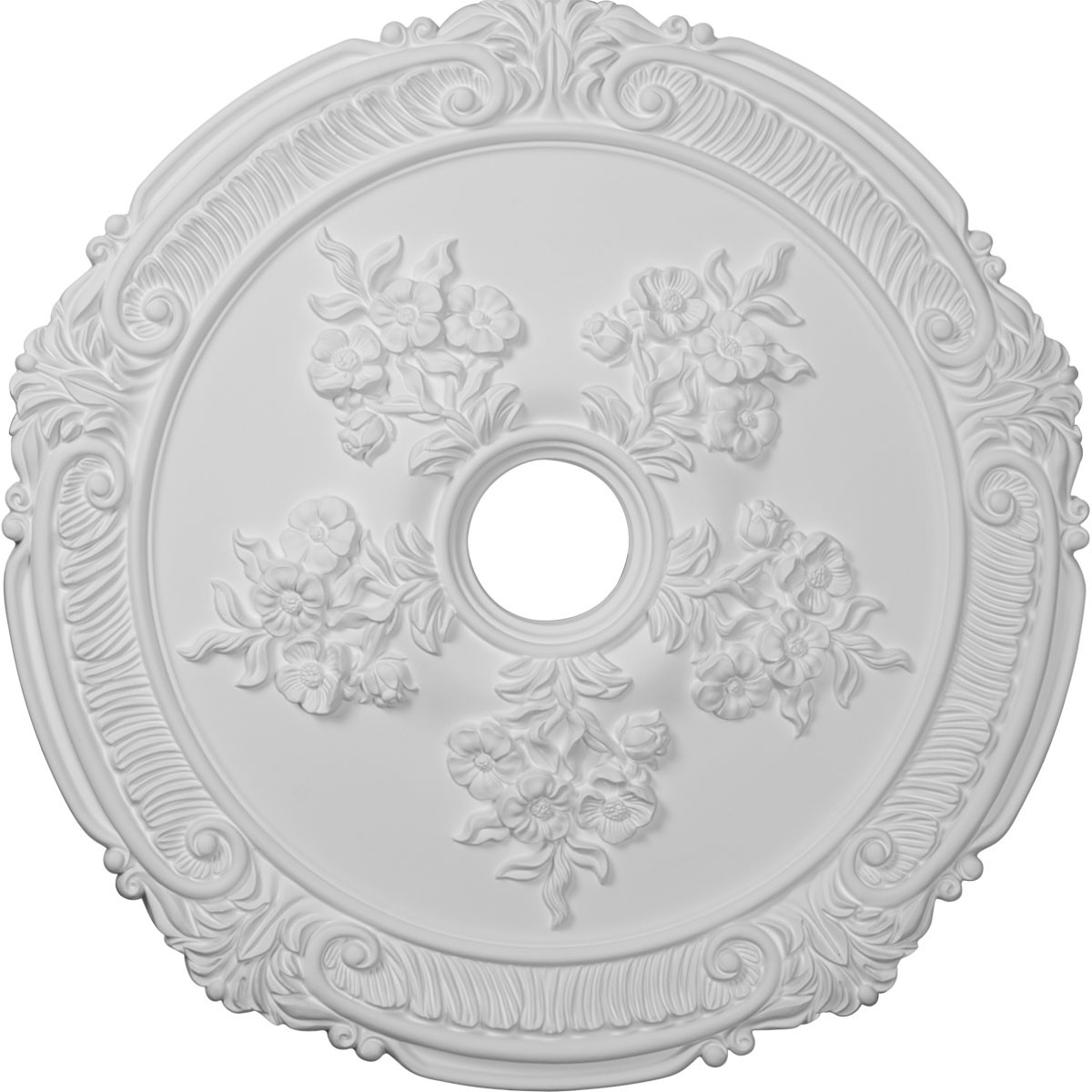 """EM-CM26AT - 26""""OD x 3 3/4""""ID x 1 1/2""""P Attica with Rose Ceiling Medallion (Fits Canopies up to 4 1/2"""")"""