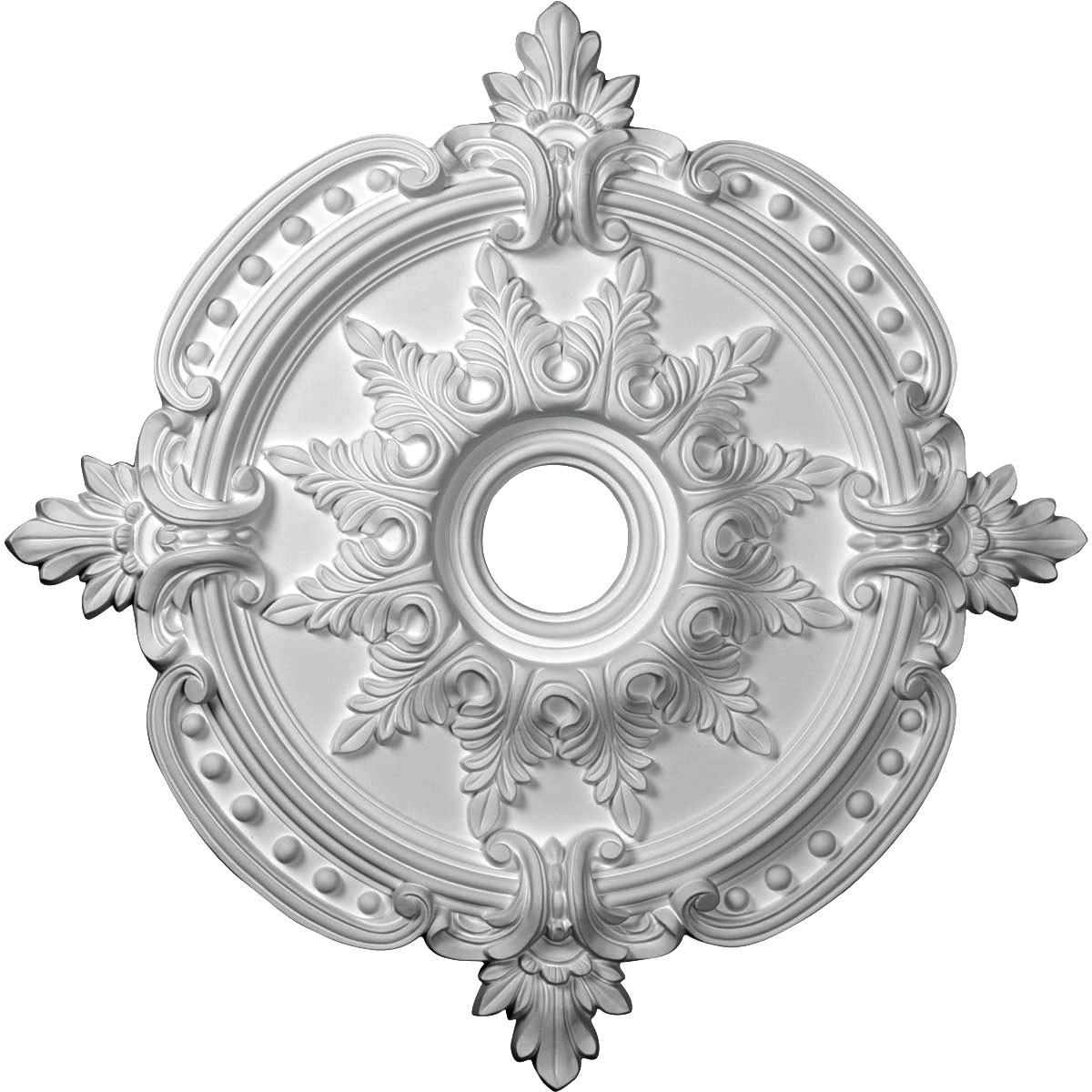 """EM-CM28BE - 28 3/8""""OD x 4 1/2""""ID x 1 5/8""""P Benson Classic Ceiling Medallion (Fits Canopies up to 6 1/2"""")"""