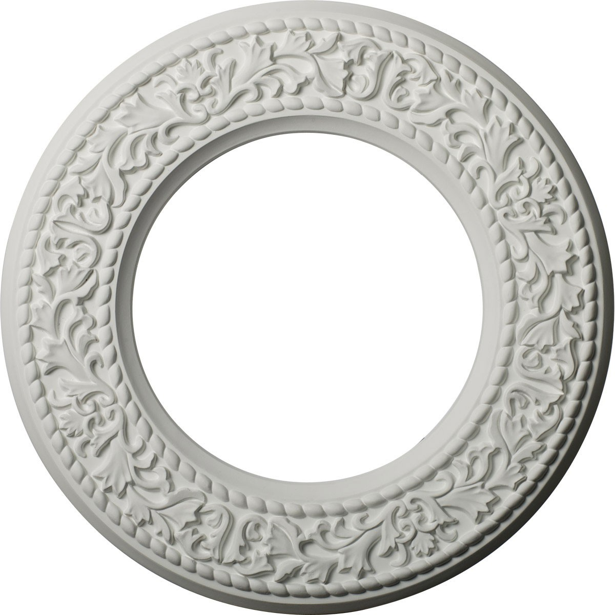 """EM-CM13BL - 13 3/8""""OD x 7 1/2""""ID x 3/4""""P Blackthorn Ceiling Medallion (Fits Canopies up to 7 1/2"""")"""