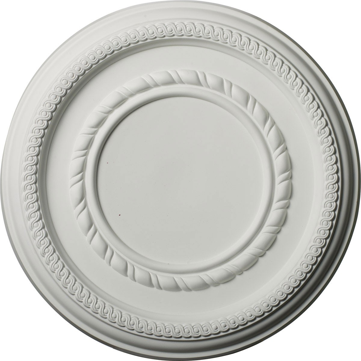 """EM-CM12FE - 12 5/8""""OD x 1 1/8""""P Federal Roped Small Ceiling Medallion (Fits Canopies up to 6"""")"""