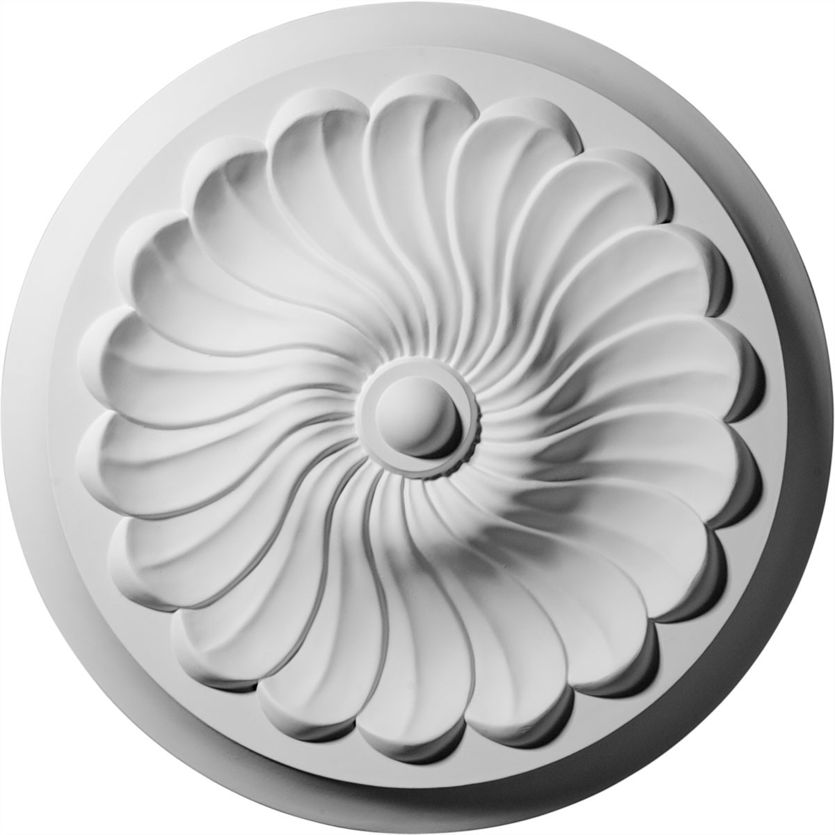 "EM-CM12FL - 12 1/4""OD x 2 1/4""P Flower Spiral Ceiling Medallion (Fits Canopies up to 2"")"