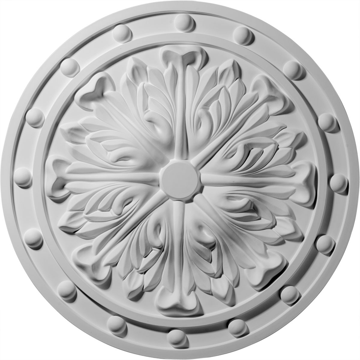 "EM-CM20FO - 20 1/2""OD x 1 1/2""P Foster Acanthus Leaf Ceiling Medallion (Fits Canopies up to 2 1/4"")"