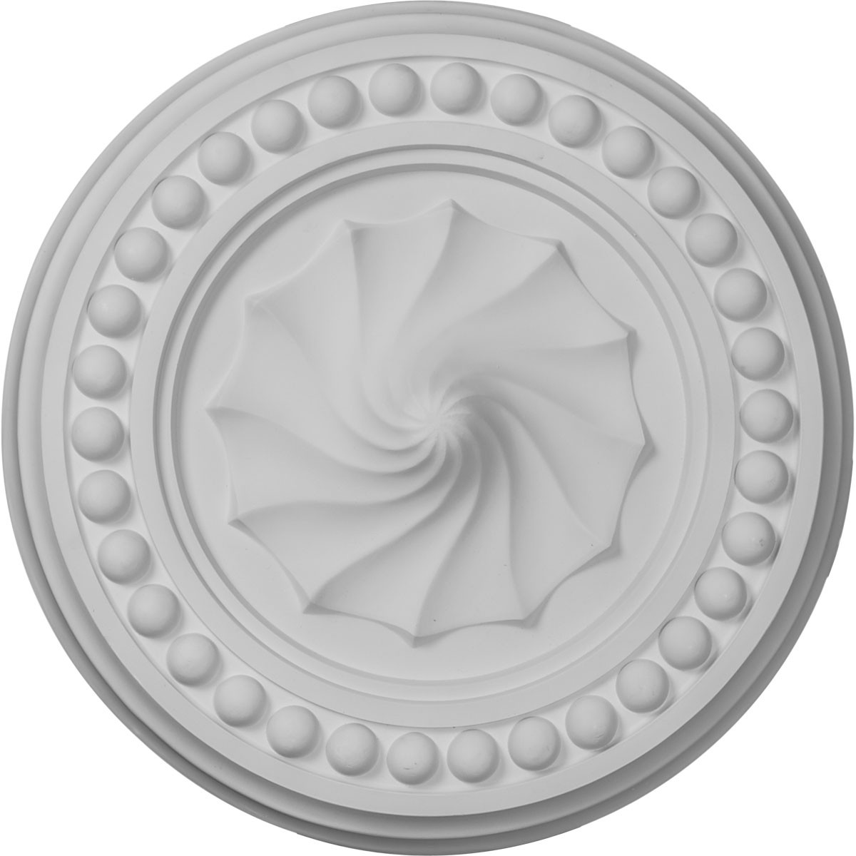 "EM-CM15FO - 15 3/4""OD x 2""P Foster Shell Ceiling Medallion (Fits Canopies up to 9 5/8"")"