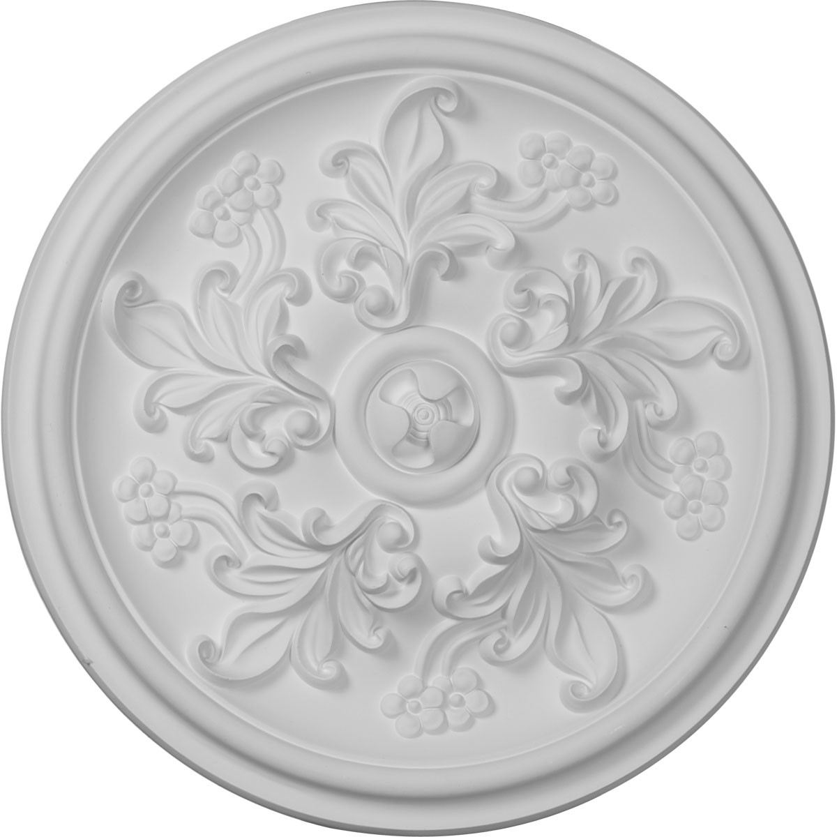 """EM-CM14KT - 14 1/2""""OD x 2 3/4""""P Katheryn Ceiling Medallion (Fits Canopies up to 2 1/8"""")"""