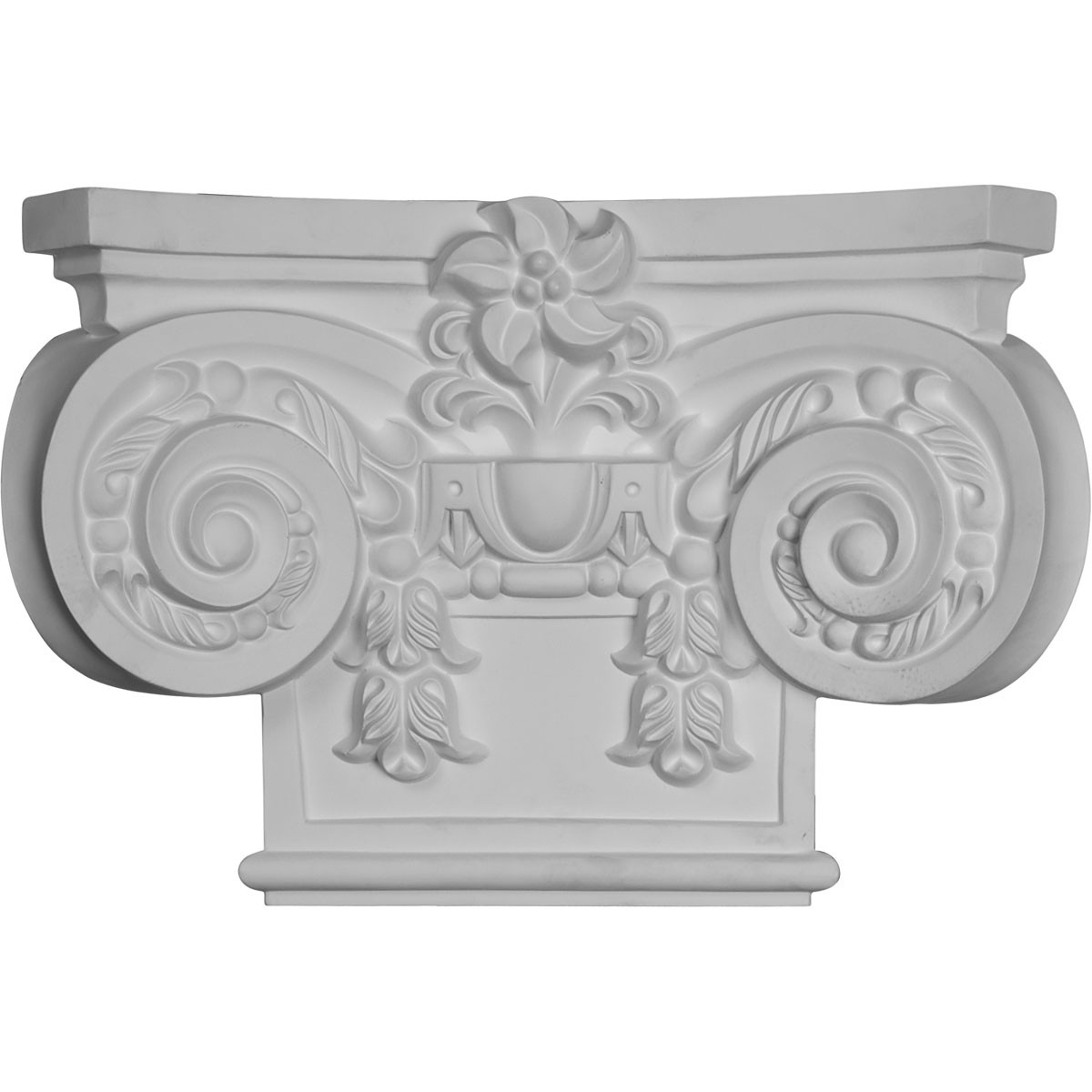 "EM-CAP19X13X05EM - 19 5/8""W x 13 3/8""H Large Empire Capital with Necking (Fits Pilasters up to 10 3/4""W x 7/8""D)"