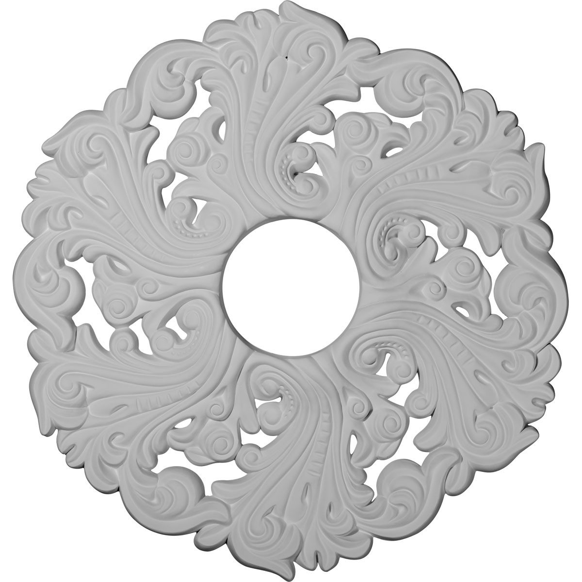"EM-CM19OR - 19 5/8""OD x 4 3/4""ID x 1 3/4""P Orrington Ceiling Medallion (Fits Canopies up to 4 3/4"")"