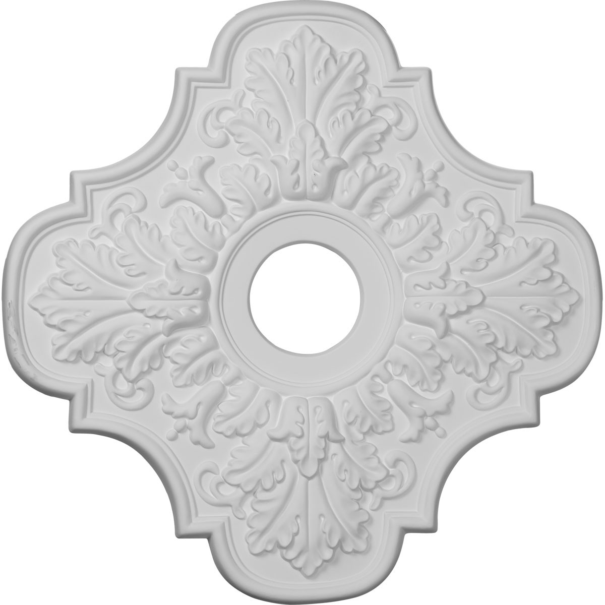 "EM-CM17PE - 17 3/4""OD x 3 1/8""ID x 1""P Peralta Ceiling Medallion (Fits Canopies up to 4 5/8"")"