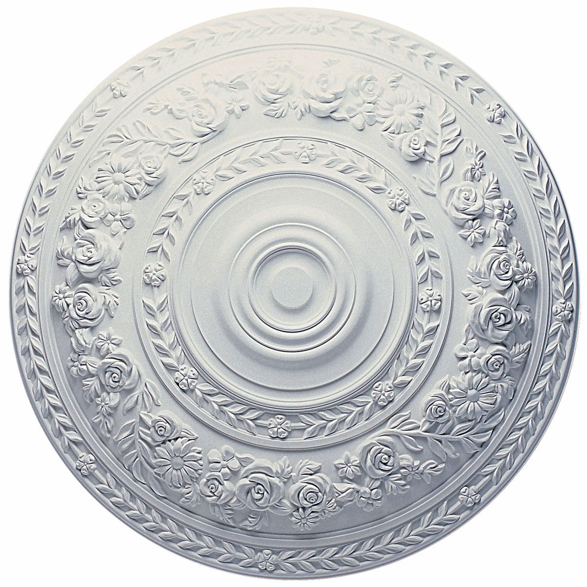 """EM-CM33RO - 33 7/8""""OD x 2 3/8""""P Rose Ceiling Medallion (Fits Canopies up to 13 1/2"""")"""