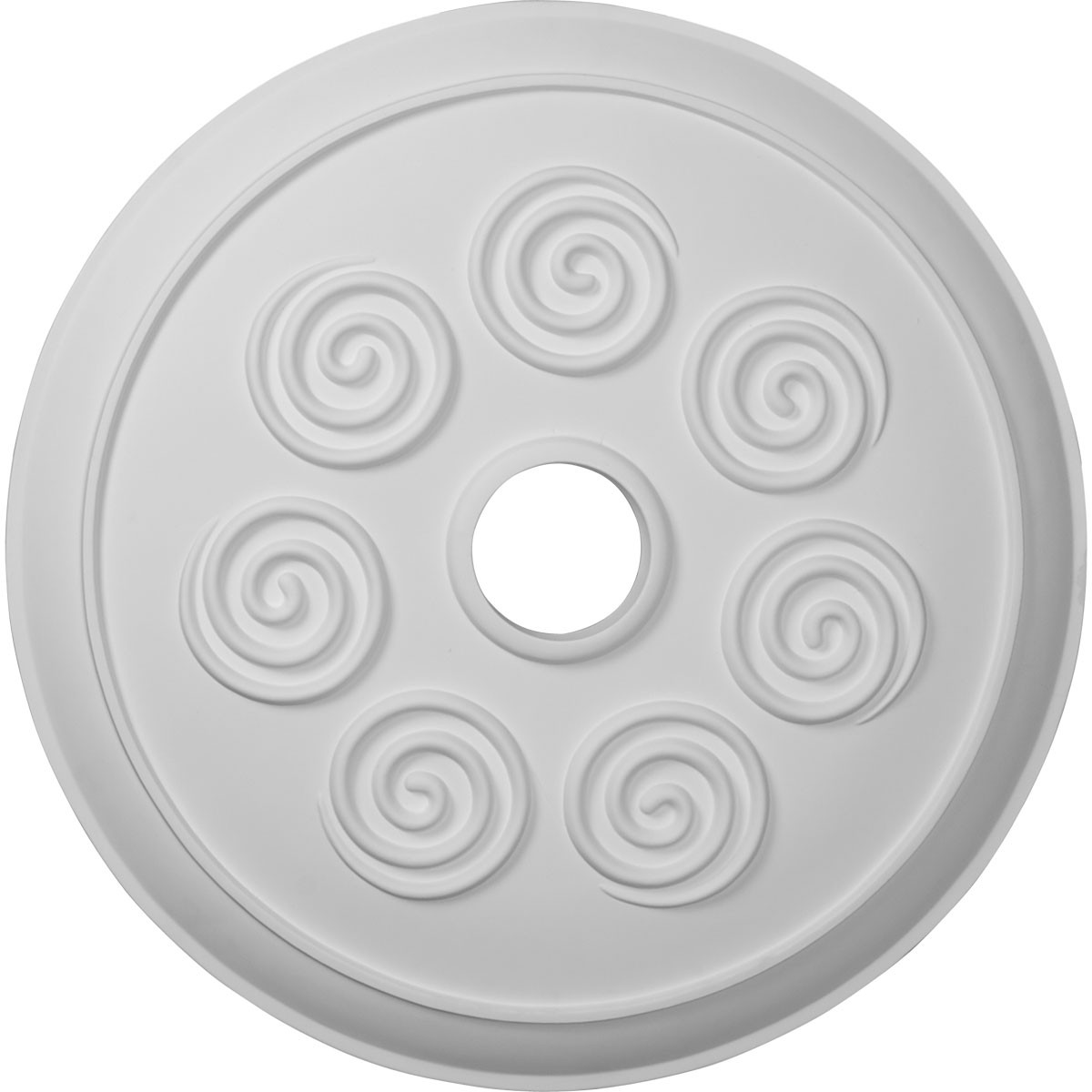"""EM-CM25SP - 25 1/4""""OD x 4""""ID x 2""""P Spiral Ceiling Medallion (Fits Canopies up to 4"""")"""
