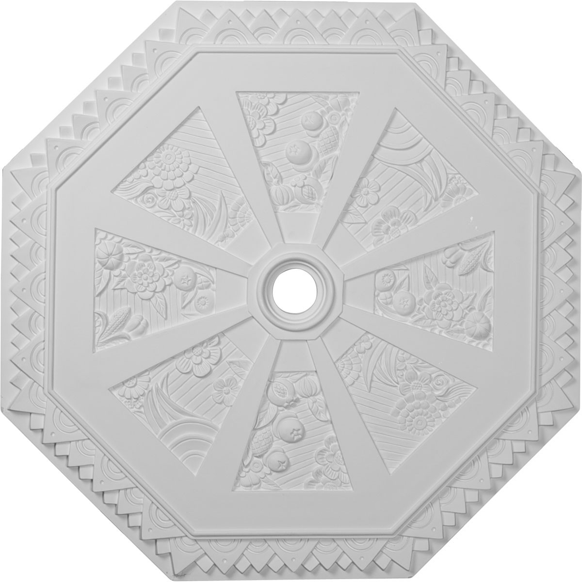 """EM-CM30SP - 29 1/8""""OD x 2 1/4""""ID x 1 1/8""""P Spring Octagonal Ceiling Medallion (Fits Canopies up to 3"""")"""