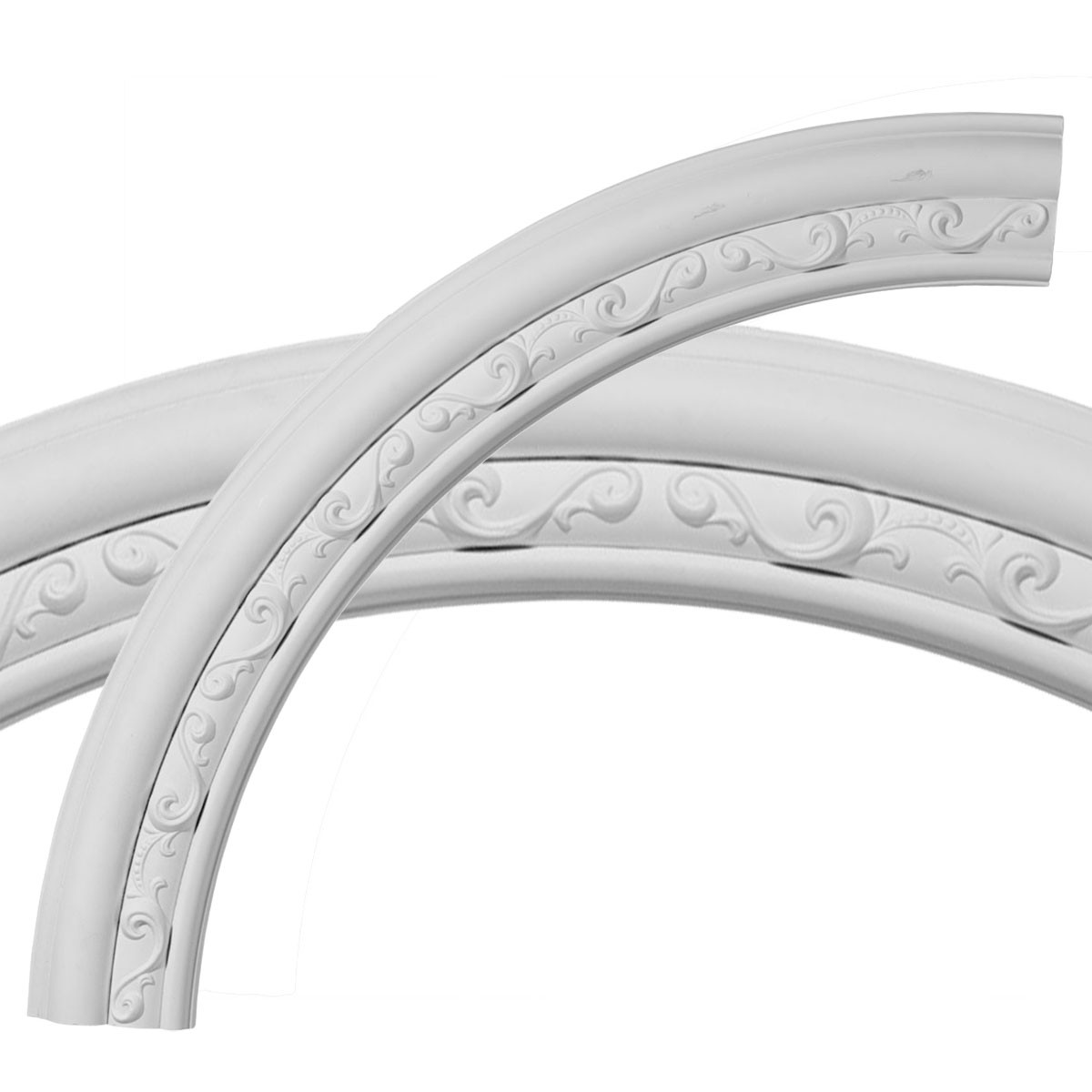 """EM-CR35WA - 36""""OD x 29 1/2""""ID x 3 1/4""""W x 1""""P Watford Ceiling Ring (1/4 of complete circle)"""