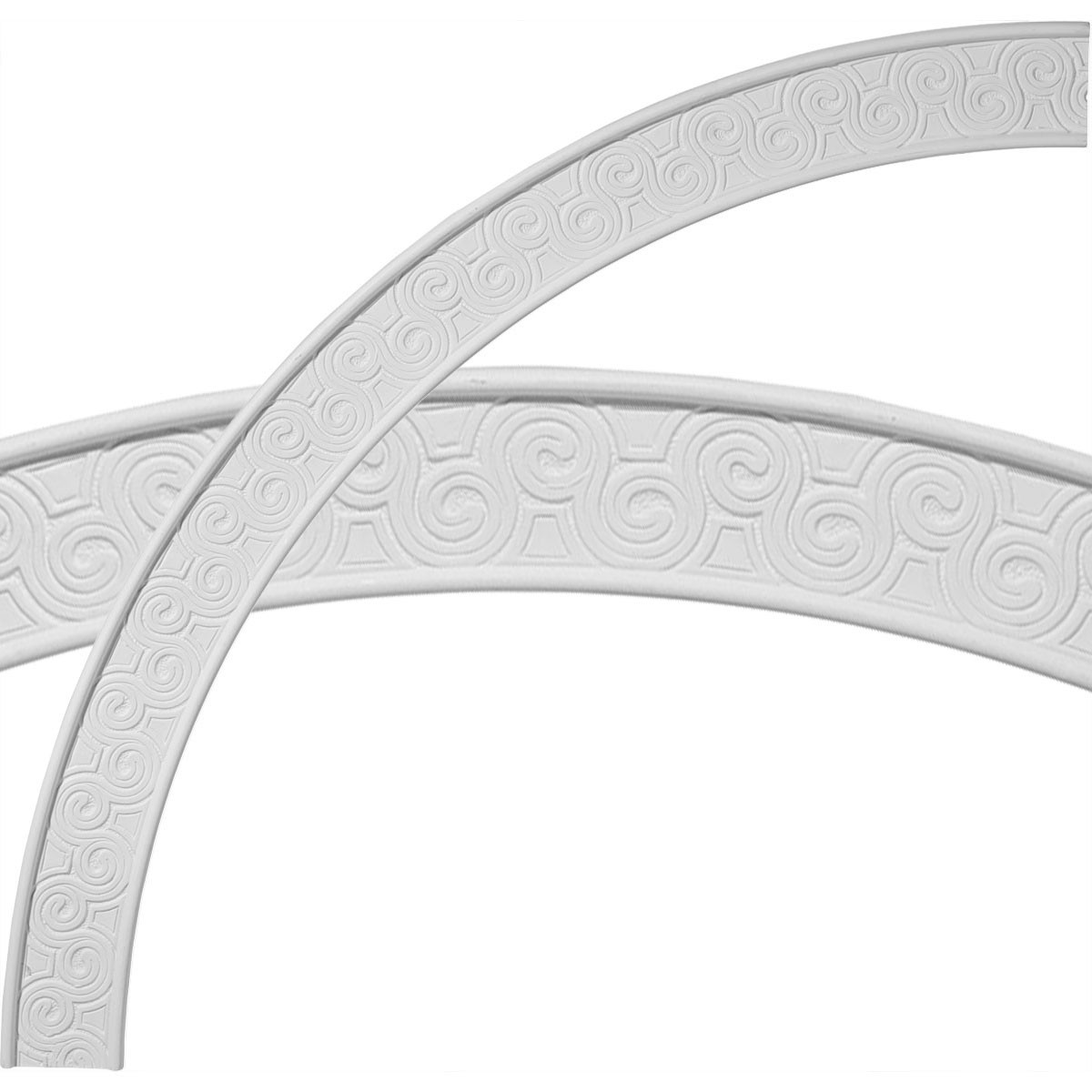"""EM-CR44BE - 44 1/2""""OD x 39 1/4""""ID x 2 3/4""""W x 5/8""""P Bedford Ceiling Ring (1/4 of complete circle)"""