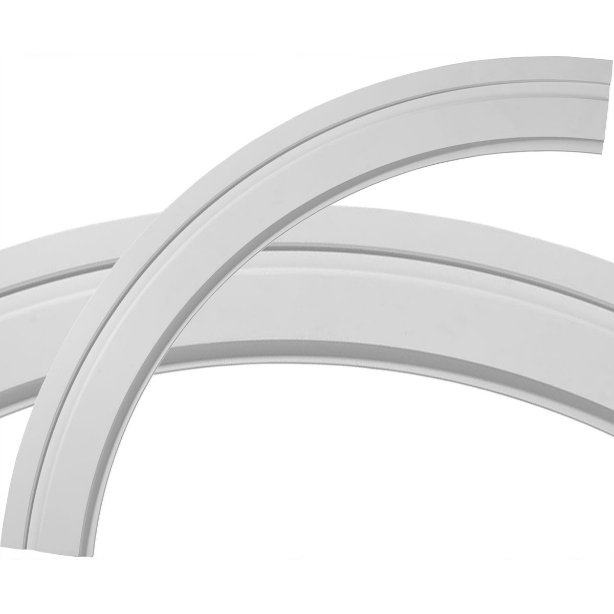 """EM-CR47MO - 47 1/2""""OD x 39 1/4""""ID x 4 1/8""""W x 7/8""""P Monique Ceiling Ring (1/4 of complete circle)"""