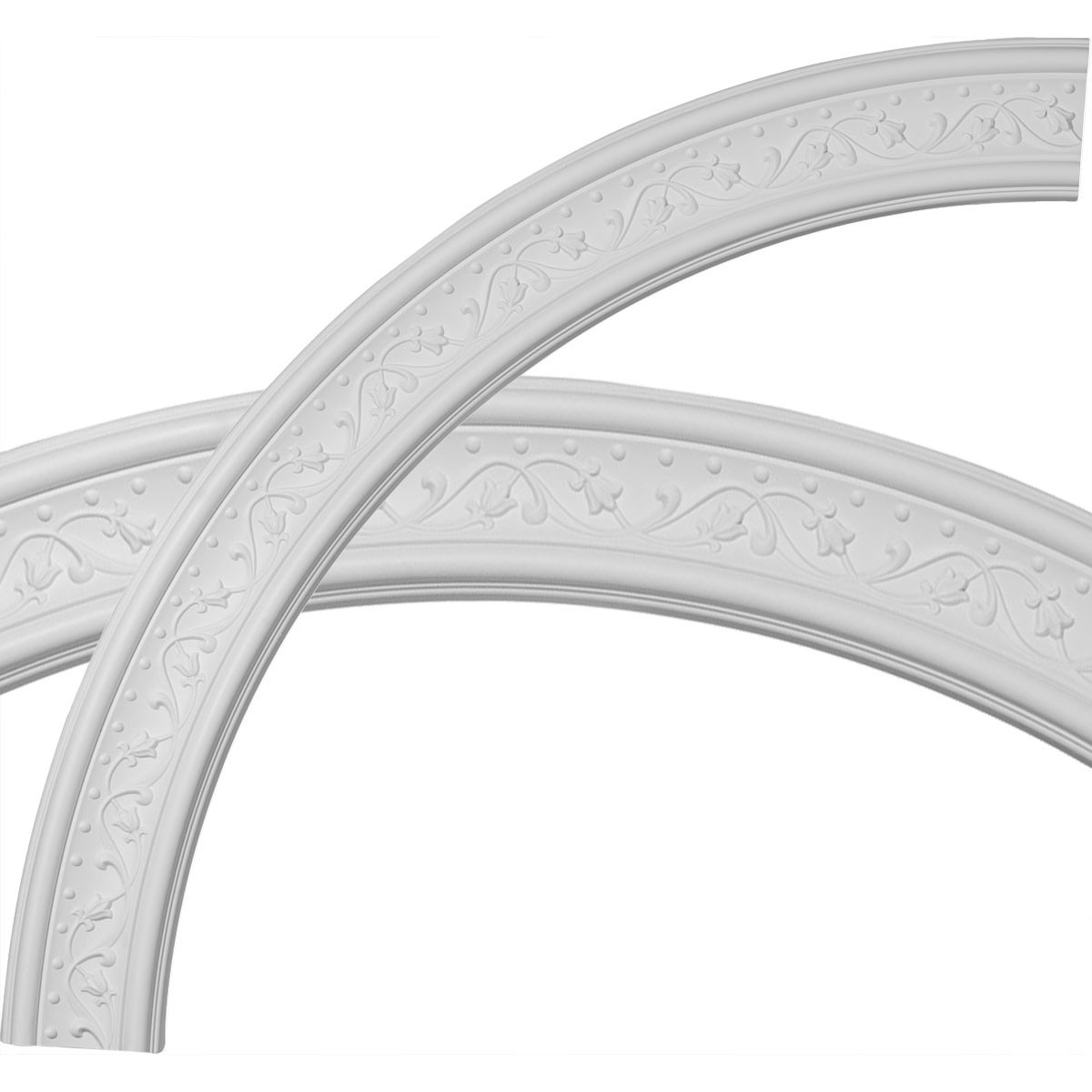 """EM-CR51MA - 51""""OD x 43""""ID x 4""""W x 7/8""""P Marcella Ceiling Ring (1/4 of complete circle)"""